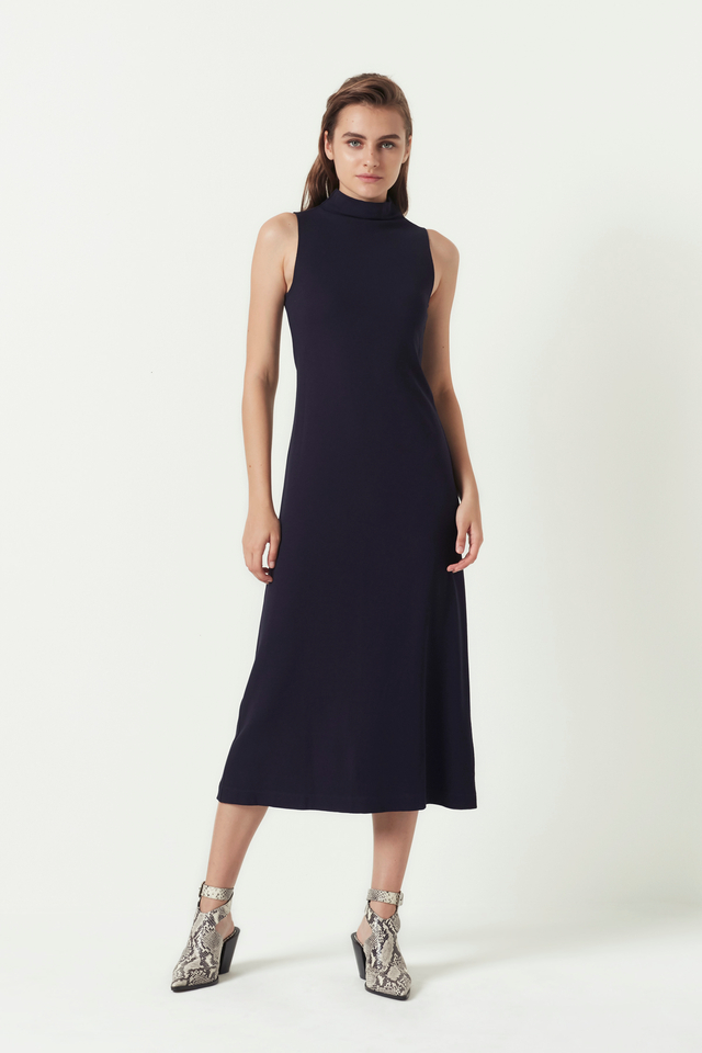 FUNNEL-NECK DRESS