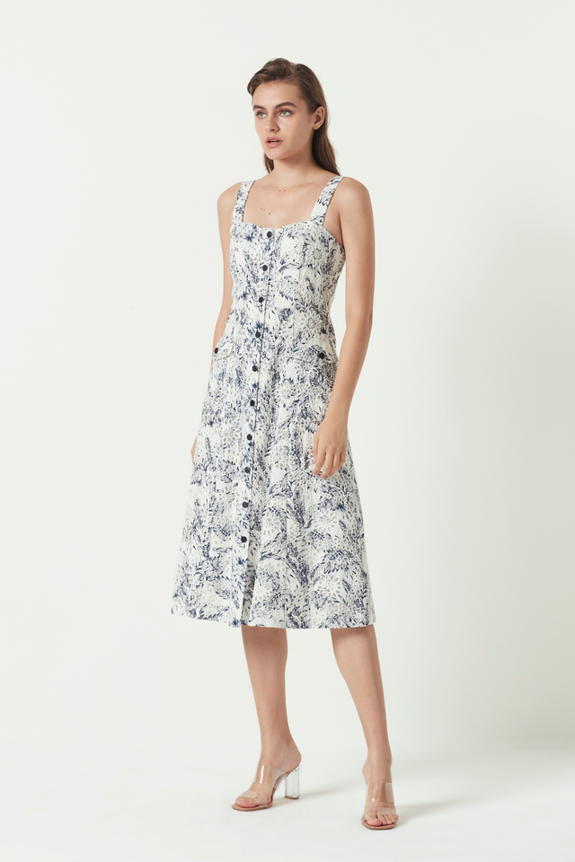 PRINTED EMBROIDERY DRESS