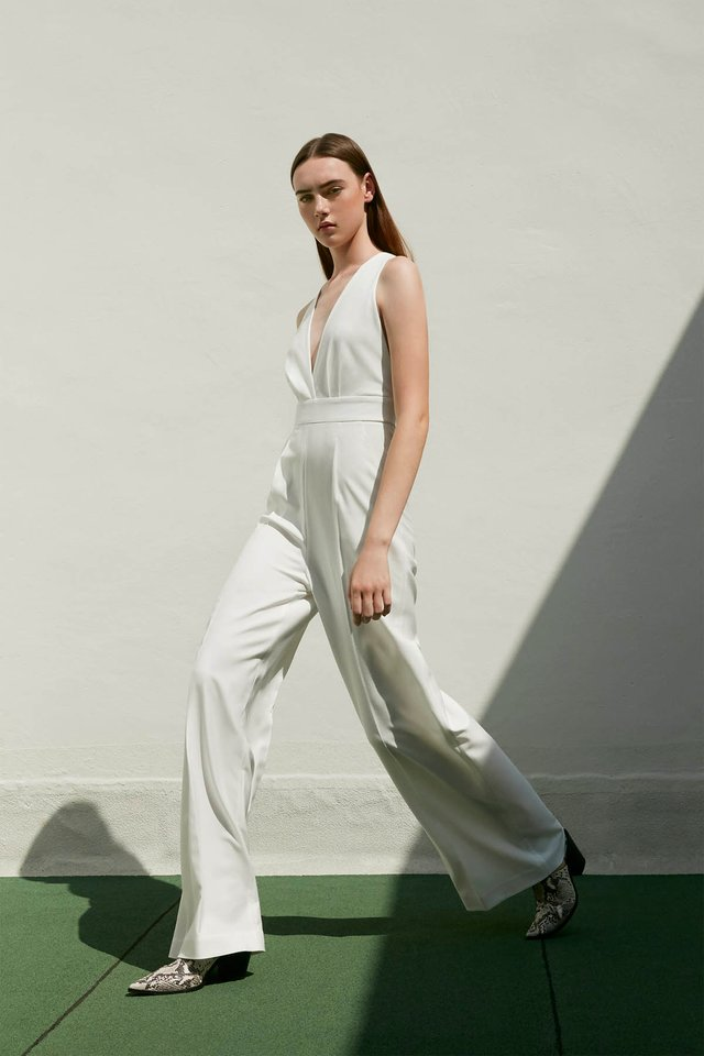CROSS-BACK JUMPSUIT WITH TUBE