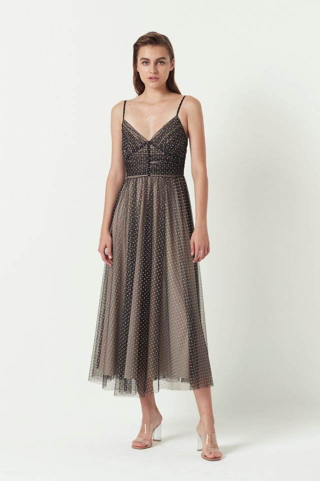 TULLE PLEATED DRESS