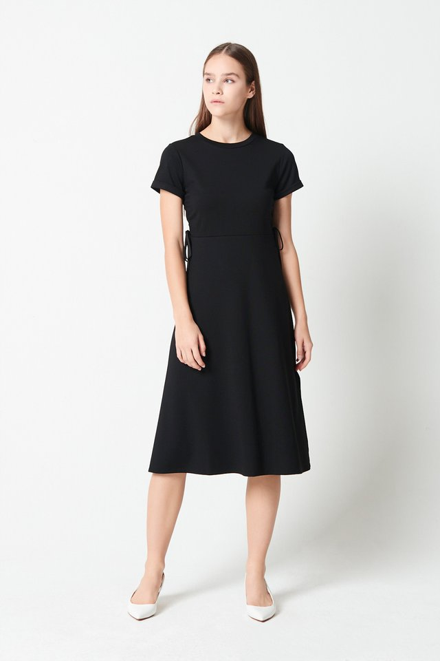 SIDE RUCHED DRESS
