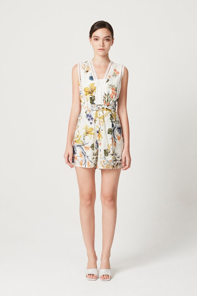 FLORAL ROMPER WITH TUBE