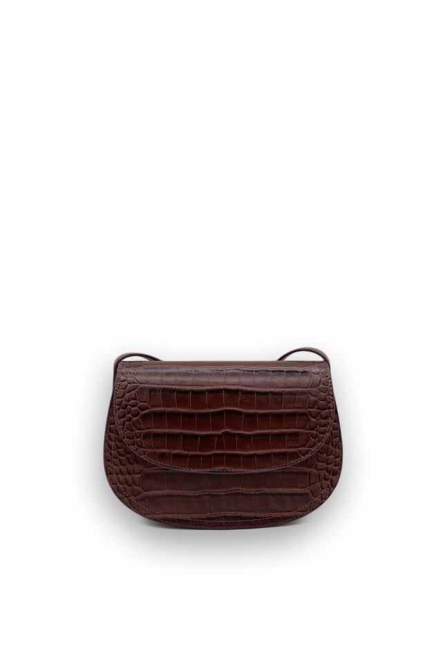CROC EMBOSSED LEATHER BAG