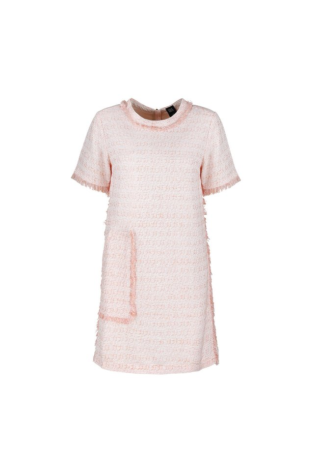 SHORT SLEEVE TWEED DRESS