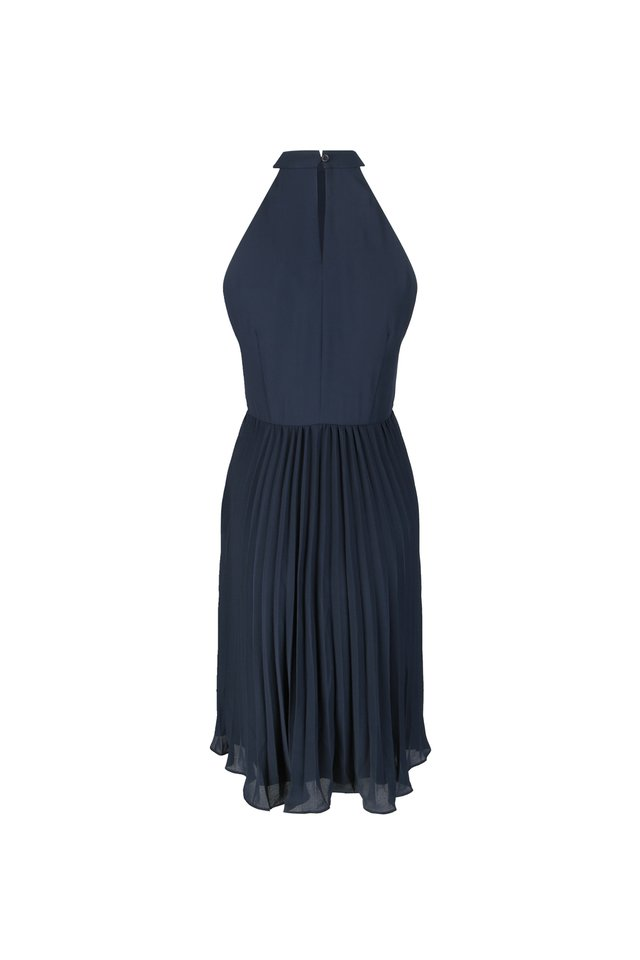 PLEATED CUT-IN DRESS