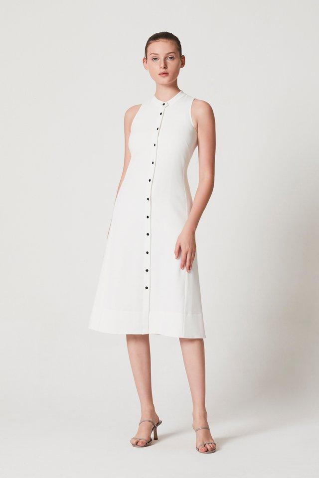 STAND COLLAR DRESS