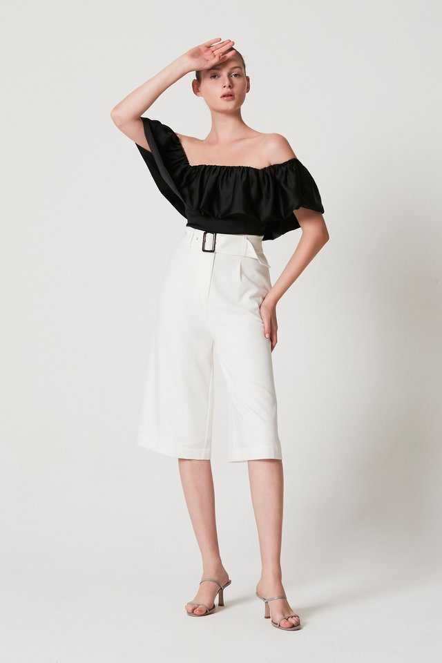BELTED CULOTTES