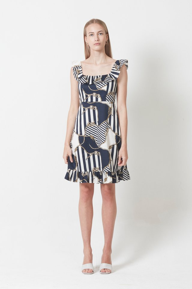 NAUTICAL PRINT DRESS