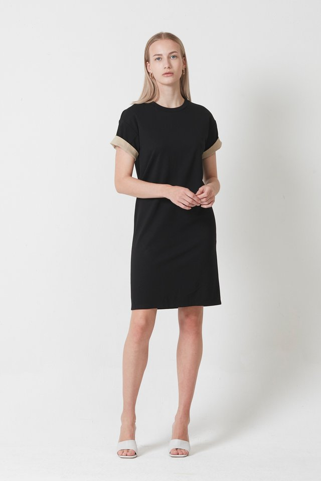 CUFFED SLEEVE DRESS