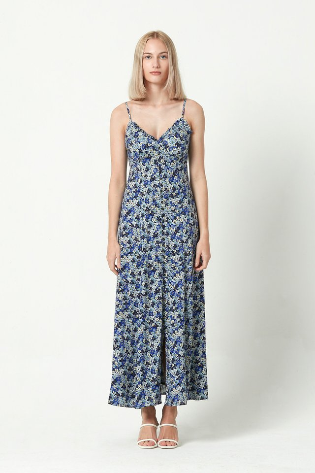 [PRE-ORDER] PRINTED BUTTON FRONT DRESS