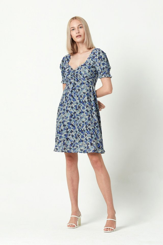 [PRE-ORDER] PRINTED PUFF SLEEVE DRESS