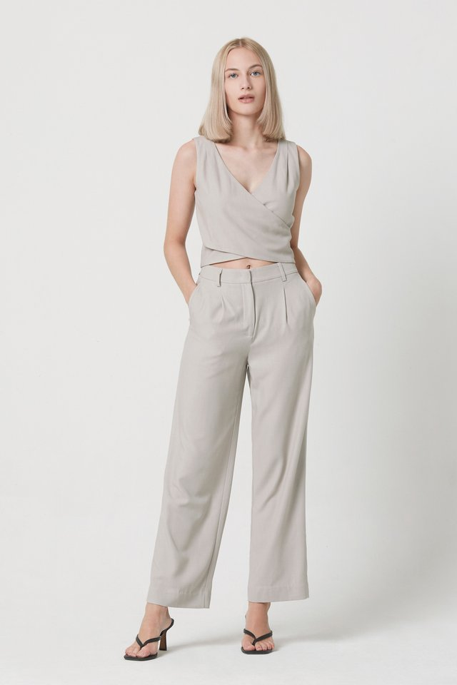 [PERFECT PAIRING] WRAP TOP & PANTS SET