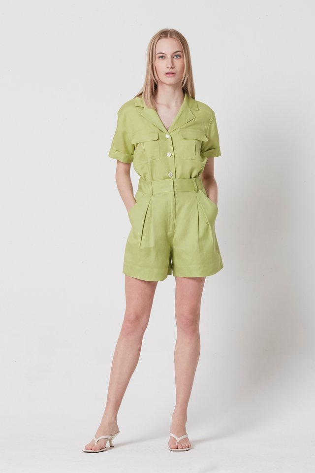 [PRE-ORDER] BOX PLEAT SHORTS